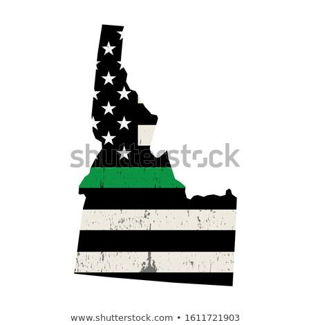Idaho militaire ondersteuning Amerikaanse vlag illustratie vorm Stockfoto © enterlinedesign