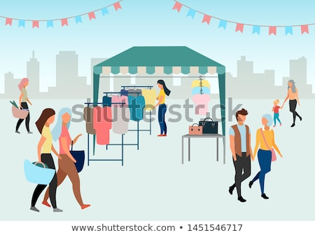 Shopping for Women, Clothes Store Summer Fair Stock photo © robuart