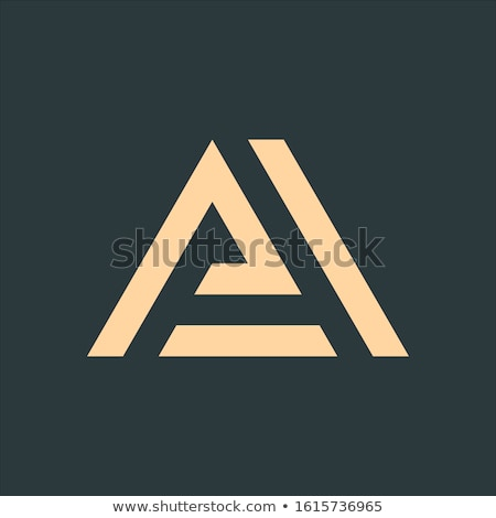 La brief logo meetkundig driehoek pijl Stockfoto © kyryloff