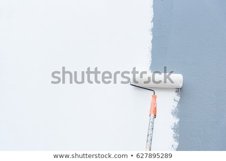 Festmény falak szoba javítás ház férfi Stock fotó © Kotenko