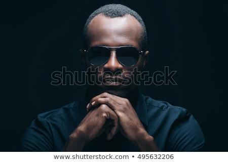 Hombre negro gafas de sol negro hombre Foto stock © piedmontphoto