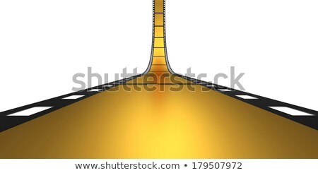 golden film reel strip in 3d style Stock photo © SArts