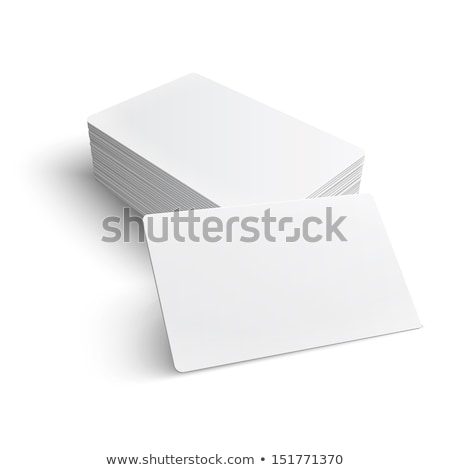 Realistic Business Card Stack Stock photo © solarseven