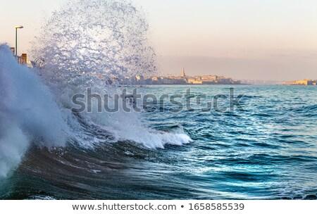 Onda acqua tempesta spray Meteo Foto d'archivio © tilo
