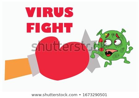 Férfi félő vírus szelektív fókusz közelkép beteg Stock fotó © Margolana