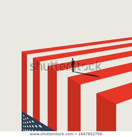 Economisch recessie business depressie financiële verlies Stockfoto © Lightsource