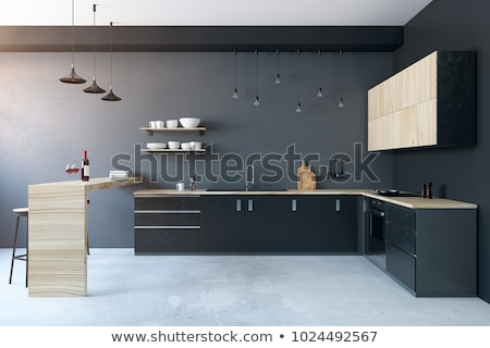 Kitchen Interior, Furnishing and Decor for Room Stock photo © robuart