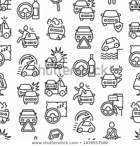 Car Crash Accident Seamless Pattern Vector Stock photo © pikepicture