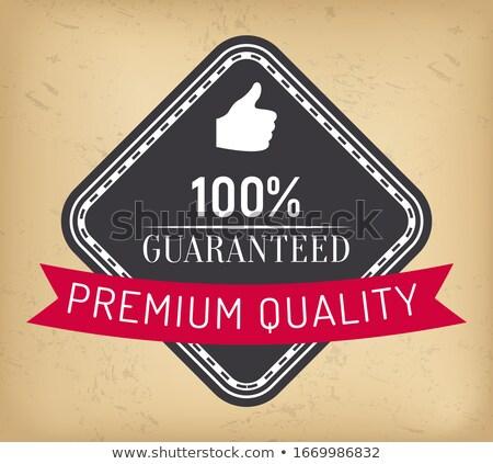 100 por cento garantir prêmio qualidade garantido Foto stock © robuart