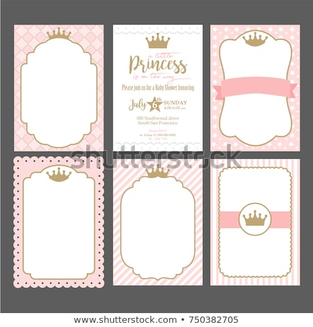 Grenze Vorlage Design Prinz Prinzessin Illustration Stock foto © bluering