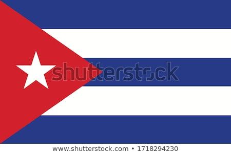 Kuba banderą biały tekstury projektu tle Zdjęcia stock © butenkow