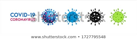 Covid 19 sign template with different symptoms Stock photo © bluering