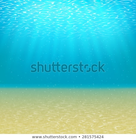 Underwater Sea Sandy Bottom And Bubbles Vector Stock photo © pikepicture