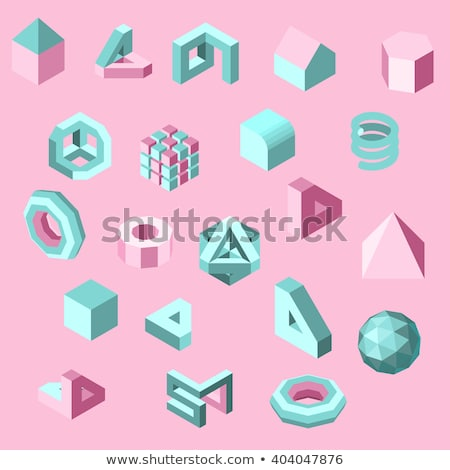abstract low poly three color background pattern set Stock photo © SArts