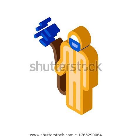Insan kimyasal aerosol izometrik ikon vektör Stok fotoğraf © pikepicture