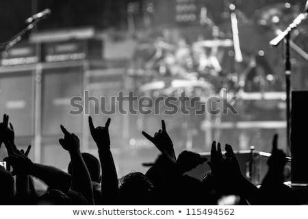 cartoon · heavy · metal · demon · illustratie · spelen · gitaar - stockfoto © fizzgig