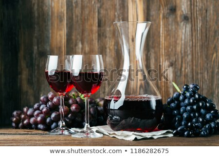 Vintage wine decanter and two glasses  Stock photo © elly_l