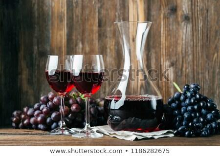 bağbozumu · şarap · iki · gözlük · Retro · cam - stok fotoğraf © elly_l