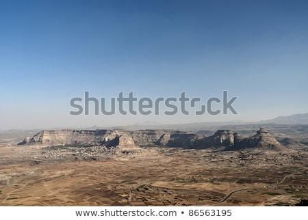 yemeni mountain village near sanaa yemen stock photo © travelphotography
