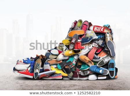 Ayakkabı satış üç ayakkabı alışveriş Stok fotoğraf © Lynx_aqua