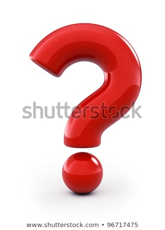 3d red question mark stock photo © nasirkhan