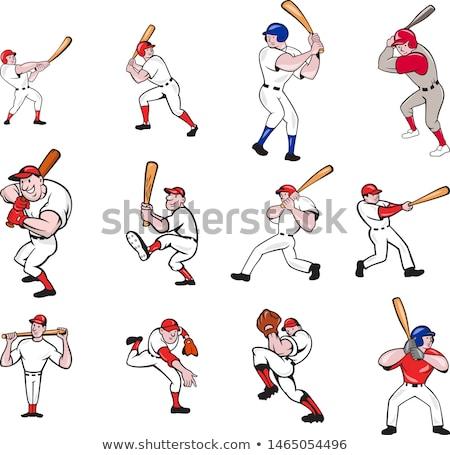 Cartoon jugador de béisbol vector diseno béisbol Foto stock © chromaco