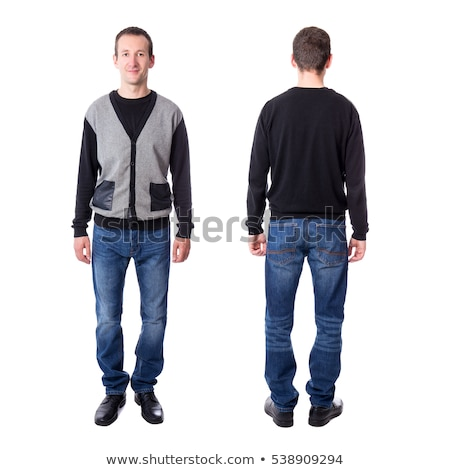Moço preto cardigã jovem empresário terno Foto stock © zybr78