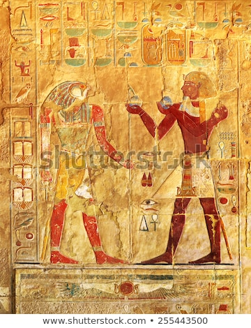 ancient egypt images in karnak temple stock photo © mikko