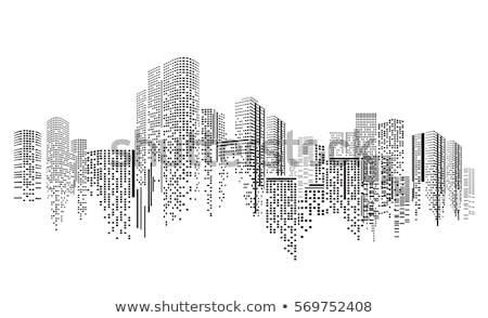 abstrato · edifícios · grunge · edifício · cidade · assinar - foto stock © pathakdesigner