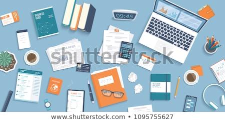 Financière documents papiers noir papier blanche Photo stock © Rebirth3d