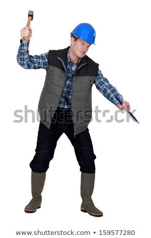 A deranged construction worker Stock photo © photography33