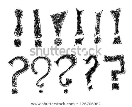 Wielokrotność znaki zapytania symbol pytania odpowiedzi niebieski Zdjęcia stock © stuartmiles