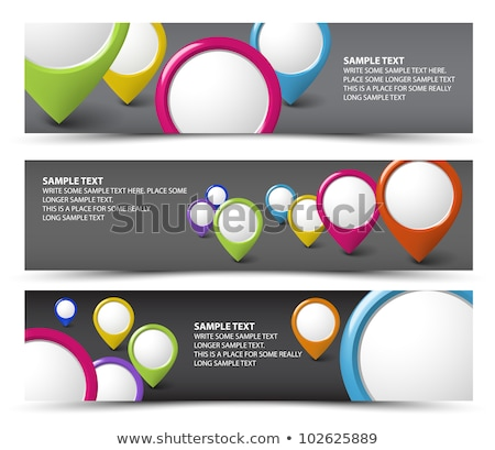 Set of map locator horizontal banners Stock photo © orson