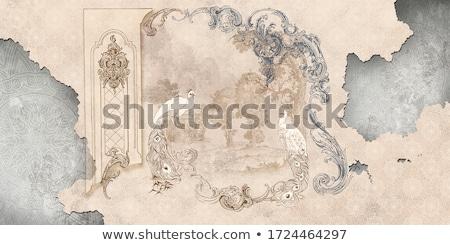 Grunge wallpaper damasco stile antica carta da parati sfondo Foto d'archivio © kjpargeter