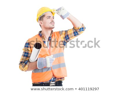 Workman with rolled up plans Stock photo © photography33