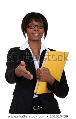 Afro-American woman greeting somebody Stock photo © photography33