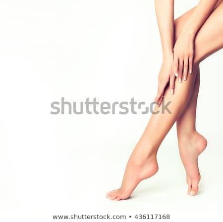 zorg · vrouwelijke · benen · wazig · gezondheid · succes - stockfoto © Nobilior