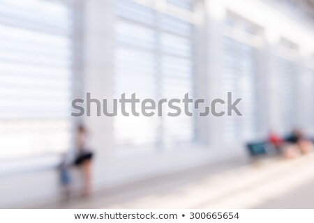 Motion blurred train with baggage cart Stock photo © unit-d