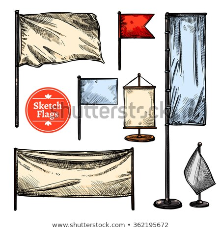 The set of waving flags of different countries Stock photo © perysty