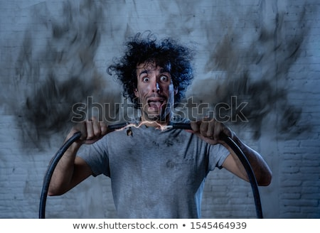 homme · électriques · choc · Aller · corps · travailleur - photo stock © photography33