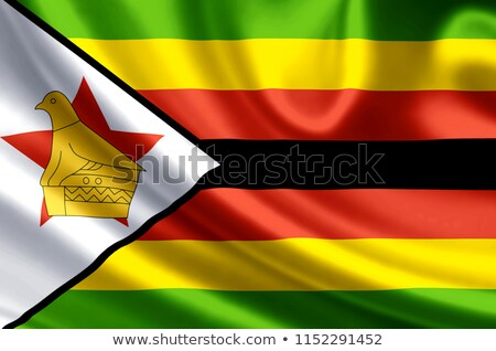 Political waving flag of Zimbabwe Stock photo © perysty