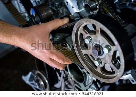 timing · gordel · twee · spanning · mechanisme - stockfoto © ruslanomega