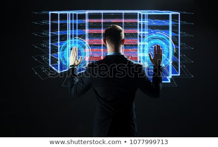 Construction engineer with touch screen Stock photo © stevanovicigor