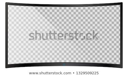 Modern widescreen lcd tv monitor isolated Stock photo © ozaiachin