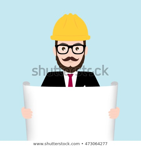 businessman holding a blueprint and an at sign Stock photo © photography33