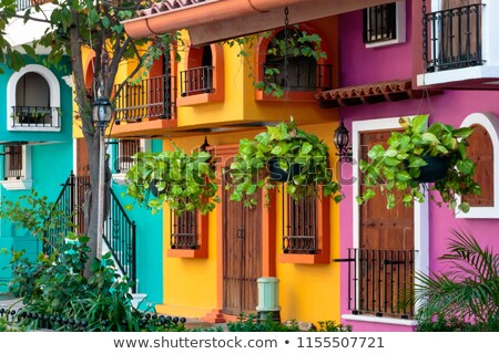 Colorful Mexican Town Stock photo © emattil