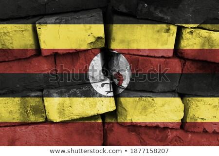 Bandera Uganda pared de ladrillo pintado grunge textura Foto stock © creisinger