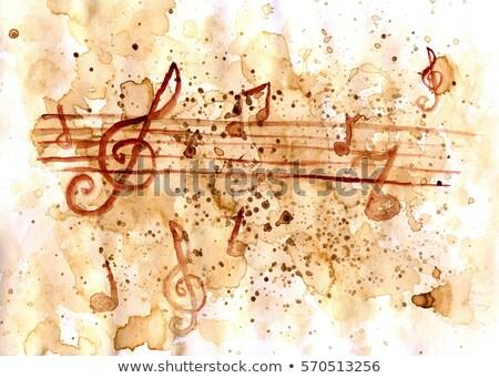 égő zenei hang illusztráció fekete buli művészet Stock fotó © asturianu