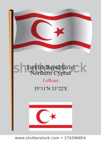 Turco bandeira vento alto blue sky fundo Foto stock © Kuzeytac