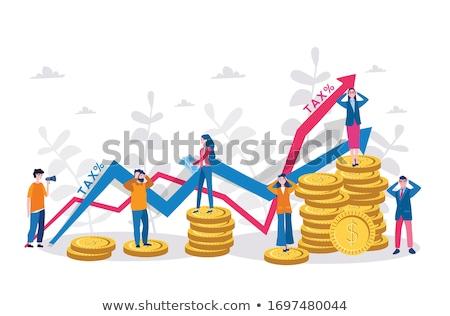 Oro signo de dólar escalada pasos Foto stock © 3mc